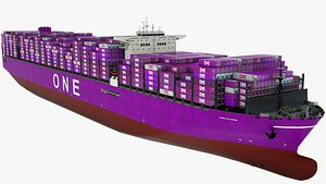 Container Ship One Storm 3D model