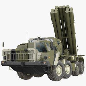 3D Smerch Rocket Launcher System Camouflage model