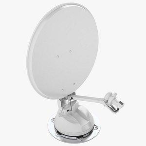 3D model Auto Motorhome Satellite Dish 01