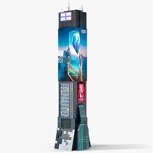 Sci-Fi Futuristic Skyscraper PBR 04 3D model