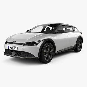 3D Kia EV6 2022 model