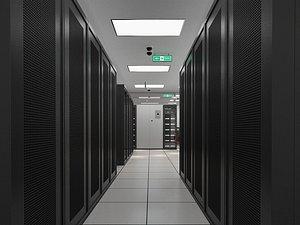 server computer room 3D model