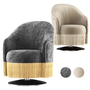 Amanda restaurant armchair 3D