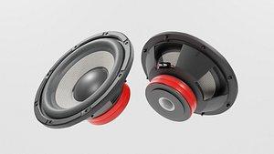 Speaker Woofer Focal 04 - Blender 3d 3D