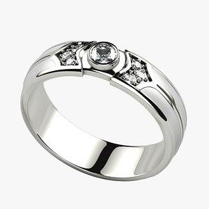 White Enamel Gold Ring model