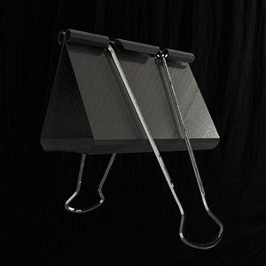 3D black metal clamp