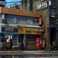 Korean Corner Store - UE4 Low-poly