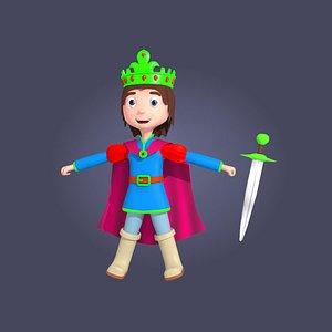 3D cartoon prince model