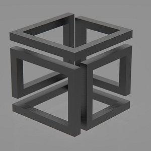 infinity cube print 3D model