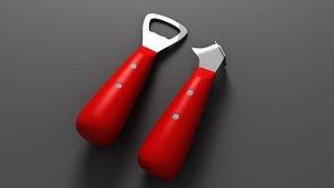 bottle opener 3D model