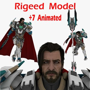 3D model Real-Time Medieval Characters Collection