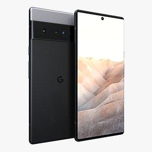 3D Google Pixel 6 Pro Just Black model