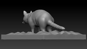3D model Raccoon Stl