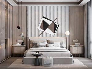 Modern Style Bedroom - 525 3D model
