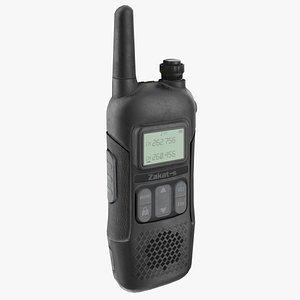 3D modern walkie talkie