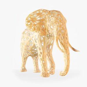 3D sculpture african elephant model