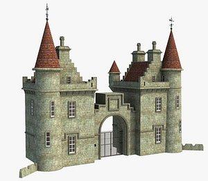 Fantasy Castle Gate 3D