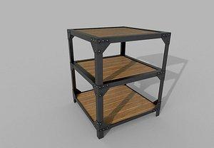 3D model Metallic PBR Table