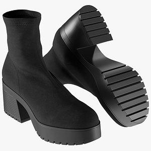 3D realistic women s boots model