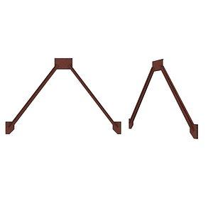 Industrial Platforms  Stairs 01 Set Arc 01 02 3D