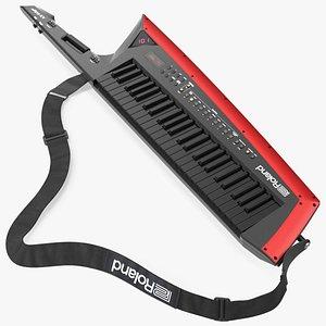 3D Roland AX Edge Keytar Black