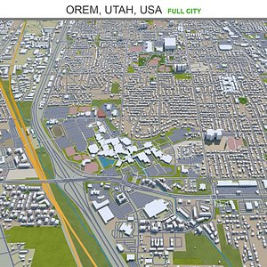 3D Orem Utah USA model