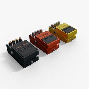 3 Guitar Pedal 3D model