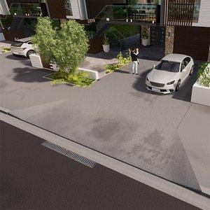 driveway street 3D model