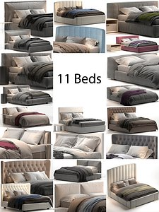 Bed Colection 2 - 11 items model