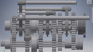 3D hewland ld 200 gear box model