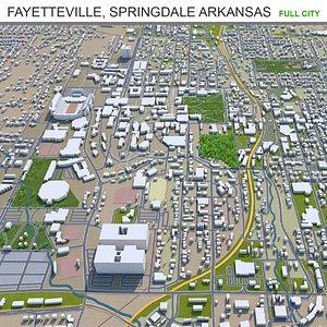 3D Fayetteville Springdale Rogers Arkansas USA model