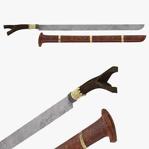 3D Sikin Panyang Sword