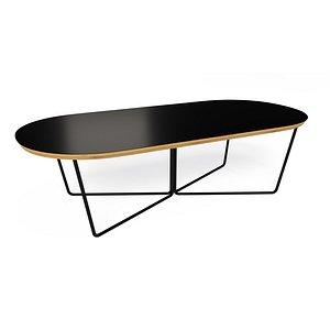 3D array coffee table oval model