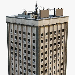architecture building 3D model