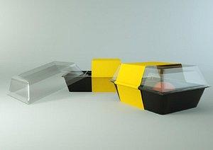 bento box packaging 3D model