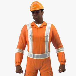 light skin black disaster 3D model