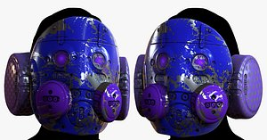 3D model High quality gas mask helmet! This photo-realistic model will bring an expert level of realism to yo