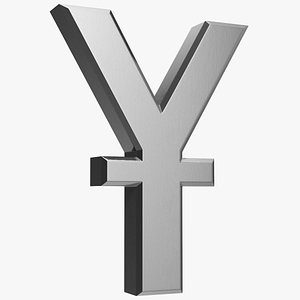 chinese yuan currency symbol 3D