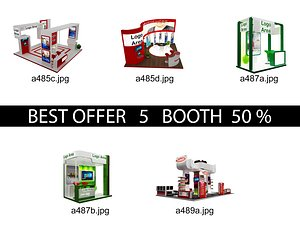 Booth Exhibition Stand c22 3D model