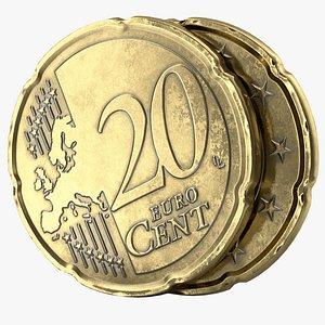 euro cent pbr 3D