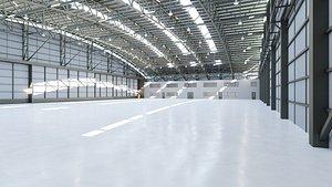 interior hangar 3D
