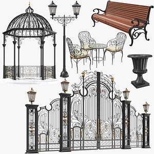 Iron Architectural Elements Collection 3D model