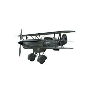 3D avia b-534 airplane aviation