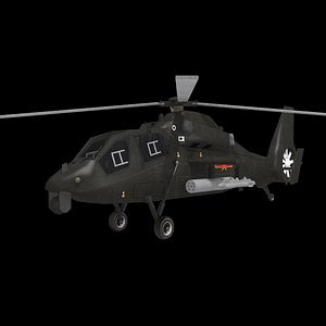 3D WZ-19 Z-19 chinese armed helicopter model