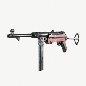 3D mp-40 submachine gun
