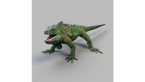 iguana rigged 3D model