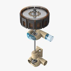 3D Francis Turbine Generator
