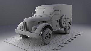 3D Gaz 69 - HighPoly model