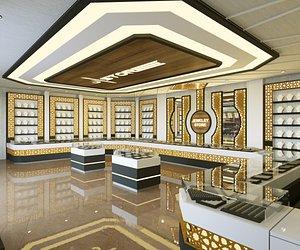 Jewelry Store Realistic Design 3D model