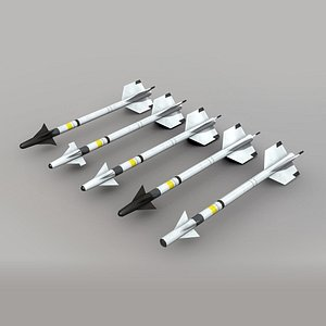AIM-9 Sidewinder  Low Poly Pack 3D